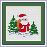Santa Claus Cross Stitch Kit By Luca S