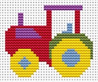 Sew Simple Tractor Cross Stitch Kit