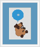 Balloon Bear Mini Cross Stitch Kit By Luca S