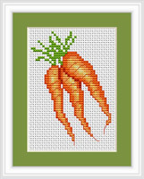 Carrots Mini Cross Stitch Kit By Luca S