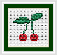 Cherries I Mini Cross Stitch Kit By Luca S