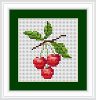 Cherries Ii Mini Cross Stitch Kit By Luca S