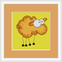 Comic Sheep Mini Cross Stitch Kit By Luca S