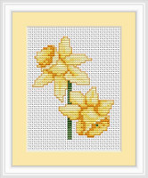 Daffodils Mini Cross Stitch Kit By Luca S