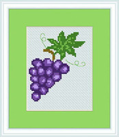 Grapes Mini Cross Stitch Kit By Luca S