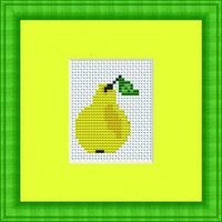 Pear Mini Cross Stitch Kit By Luca S
