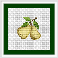 Pears Mini Cross Stitch Kit By Luca S