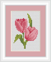 Tulips Mini Cross Stitch Kit By Luca S