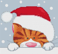 Christmas Cat Cross Stitch Kit By Stitchtastic