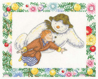 The Snowman Flying Cross Stitch Kit