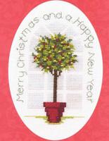 Holly Tree Card Cross Sttich Kit