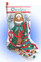 Christmas Angel Stocking Cross Stitch Kit By Design Works
