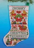 Christmas Treasures Stocking Cross Stitch Kit By Design Works