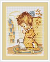 Boy Praying Cross Stitch Kit By Luca S