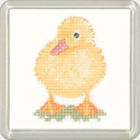 Duckling Square Coaster Cross Stitch Kit