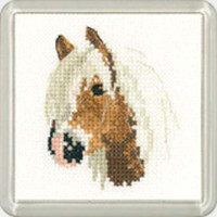 Palomino Pony  Square Coaster Cross Stitch Kit