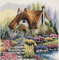 Lakeside Cottage Cross Stitch Kit