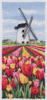 Dutch Tulips Landscape   Cross Stitch Kit
