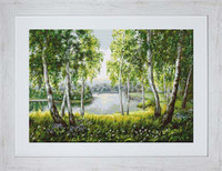 Native Birches In The Light Cross Stitch Kit By Luca