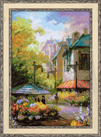 Flower Street Cross Stitch Kit By Riolis