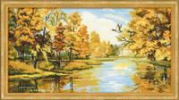 Silent Autumn Cross Stitch Kit By Riolis