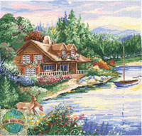 Lakeside Cross Stitch Kit By Design Works
