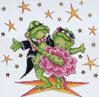 Dancing Frogs Cross Stitch Kit By Design Works