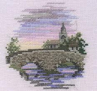Minuets Bridge Cross Stitch Kit On Linen