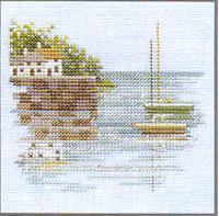 Quayside Cross Stitch Kit On Linen