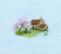 Minuets Orchard Cottage Cross Stitch Kit