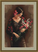 Spanish Lady With Bouquet Cross Stitch Kit By Luca S
