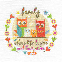 Family  Cross Stitch Kit By Dmc