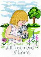 All You Need Is Love Cross Stitch Kit By Janlynn