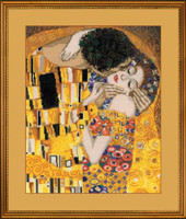 G Klimt - The Kiss Cross Stitch Kit
