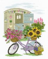 Flowery Bicycle Cross Stitch Kit By Dmc