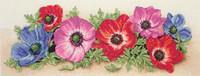 Spray Of Anemones Cross Stitch Kit By Maia