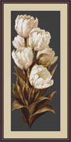 White Tulips Cross Stitch Kit By Luca S