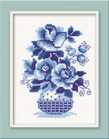 Wild Roses Cross Stitch Kit