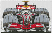 Mclaren Hamilton F1 Caricature Cross Stitch Kit
