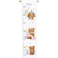 Lovely Bear Height Chart Cross Stitch Kit By Vervaco