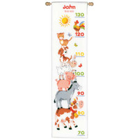 Farm Height Chart Cross Stitch Kit