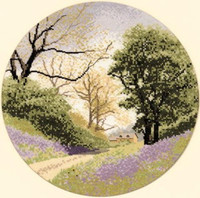 John Clayton Bluebell Lane Cross Stitch Kit
