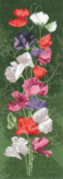 Sweet Pea Panel Cross Stitch Kit By Heritage