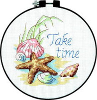 Take Time Learn A Craft Counted Cross Stitch Kit