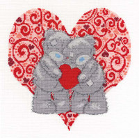 Love Bears  Cross Stitch Kit By Dmc