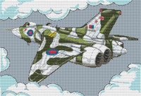 Vulcan Bomber Cross Stitch Kit By Stitchtastic