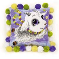 Little Goat Cushion Cross Stitch Kit By Riolis