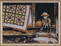Pumpkin Porch Cross Stitch Kit Bt Design Works