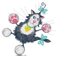 Jazz Hands Princess Whiskers Cross Stitch Kit By Stitchtastic