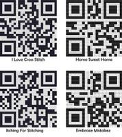 Qr Codes Cross Stitch Kit By Stitchtastic